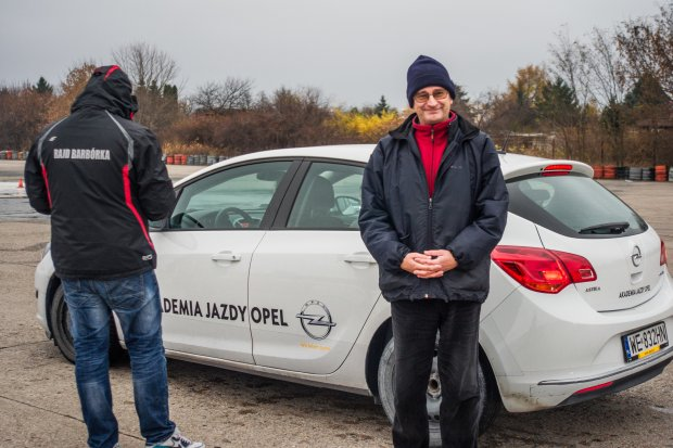 Tomasz Dąbrowski, Akademia Jazdy Opel (fot. AP/grimcamera.com)