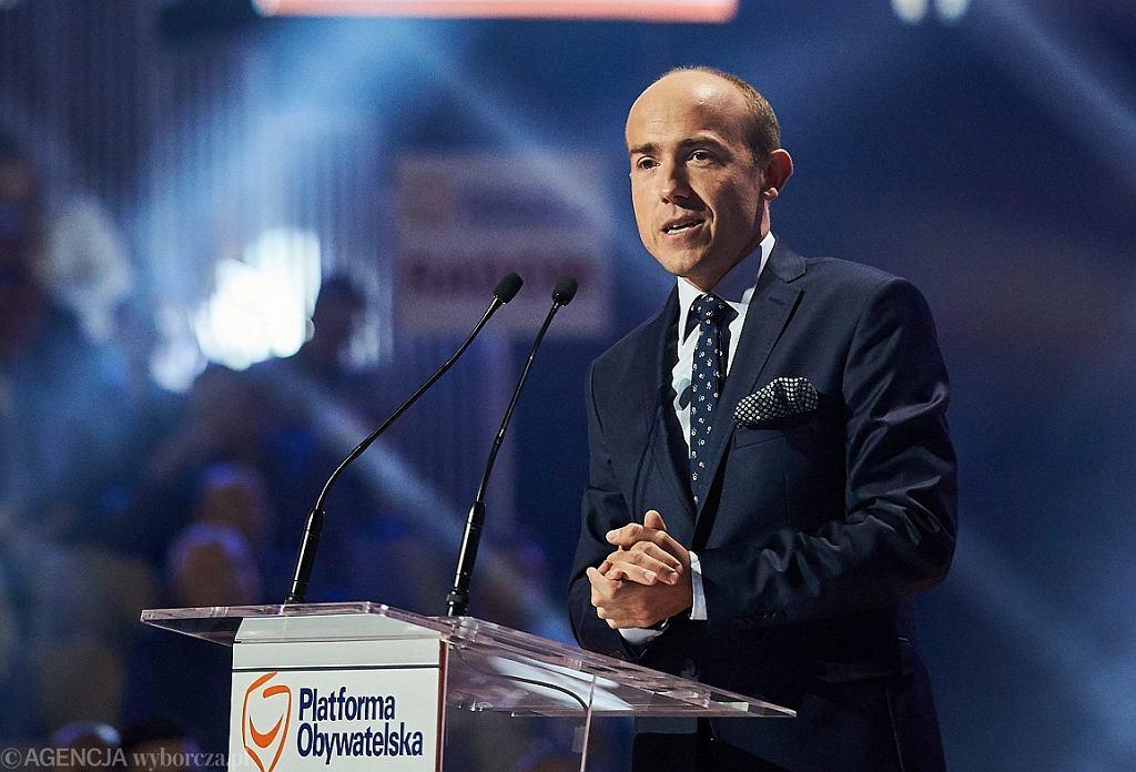 Borys Budka na konwencji PO (fot. Jan Rusek/AG)