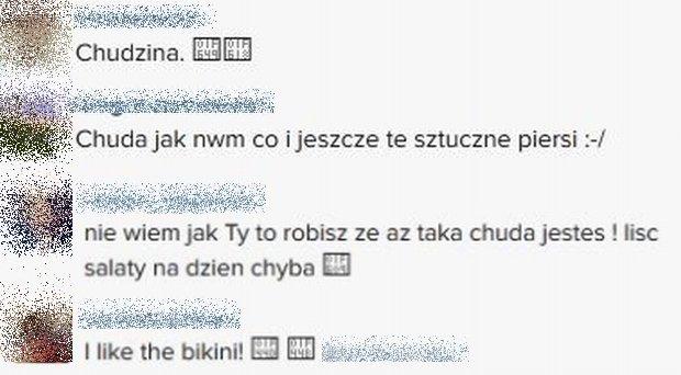 Komentarze na profilu Natalii Siwiec