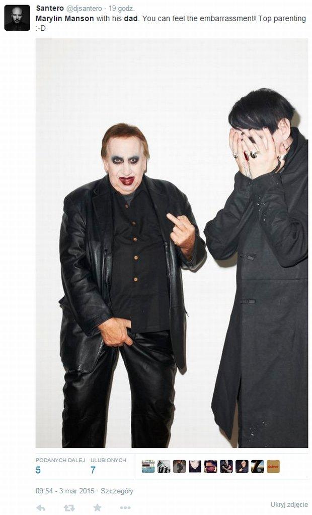 Marilyn Manson z tatą