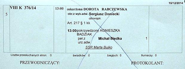 Rozprawa przeciwko Dorocie Rabczewskiej z pozwania Agnieszki Szulim