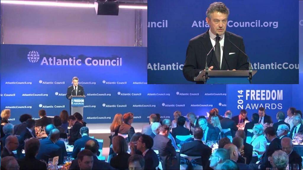 Ryszard Schnepf przemawia na konferencji thinktanku Atlantic Council (fot. archiwum prywatne)