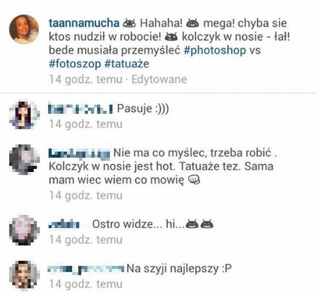 Anna Mucha komentuje grafikę z Plotek.pl