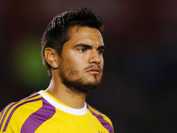 Argentina's goalkeeper Sergio Romero looks on during a friendly soccer match against Trinidad and Tobago in preparation for the World Cup, in Buenos Aires June 4, 2014.                  REUTERS/Enrique Marcarian (ARGENTINA - Tags: SPORT SOCCER WORLD CUP HEADSHOT PROFILE) SLOWA KLUCZOWE: :rel:d:bm:GF2EA65060601