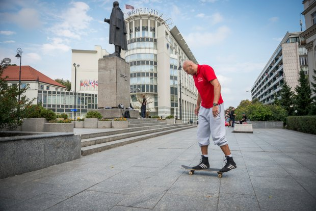 przymiarka na skateboardzie