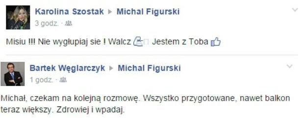 Wpisy na Facebooku Michała Figurskiego