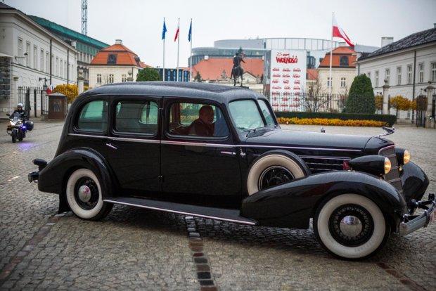 Odrestaurowany Cadillac Marszałka Piłsudskiego (fot. Eliza Radzikowska-Białobrzewska / Kancelaria Prezydenta RP)