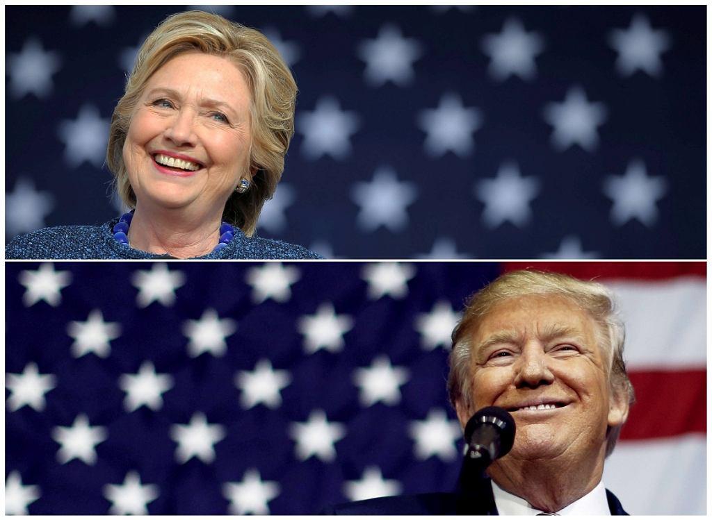 Hillary Clinton i Donald Trump (fot. Brian Snyder/Jonathan Ernst/Reuters)
