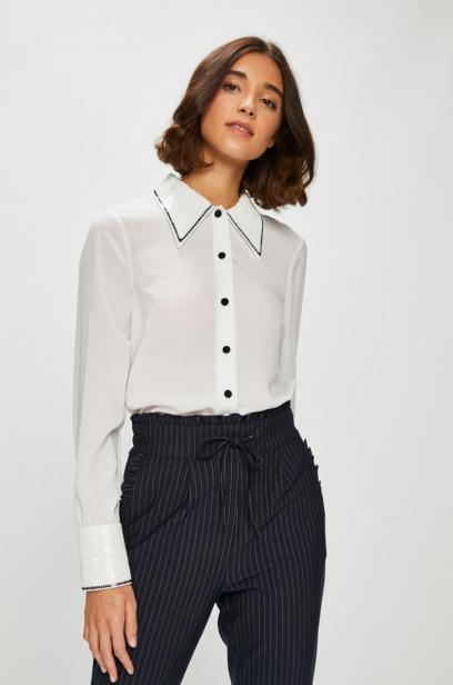 Ogromny Biała bluzka koszulowa: idealna baza do codziennych stylizacji NZ62
