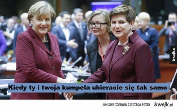 Beata Szydło i Angela Merkel - memy