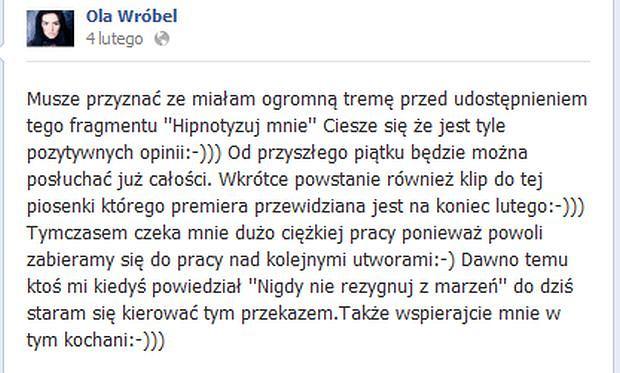 Ola Wróbel Facebook
