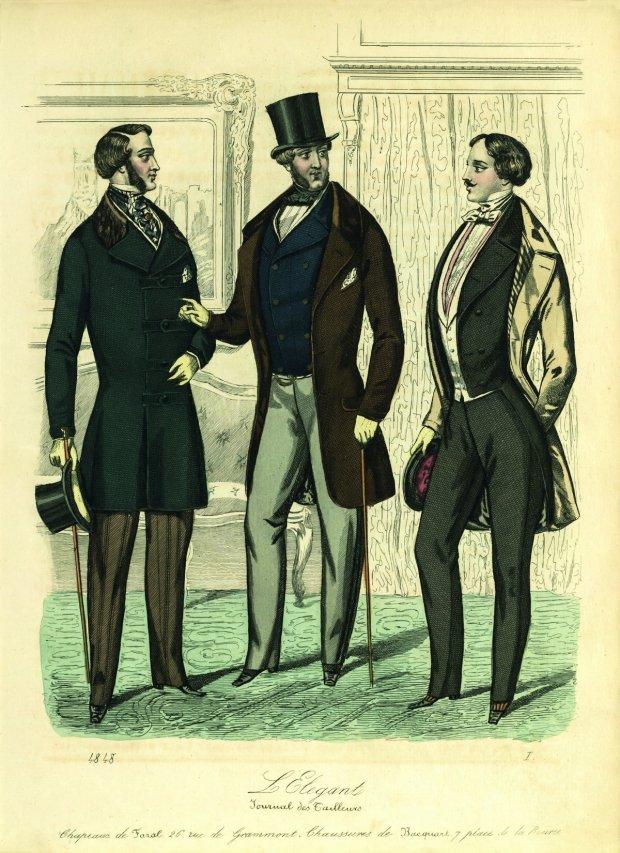 Ilustracja z książki ''Od spódnicy do spodni. Historia mody męskiej''