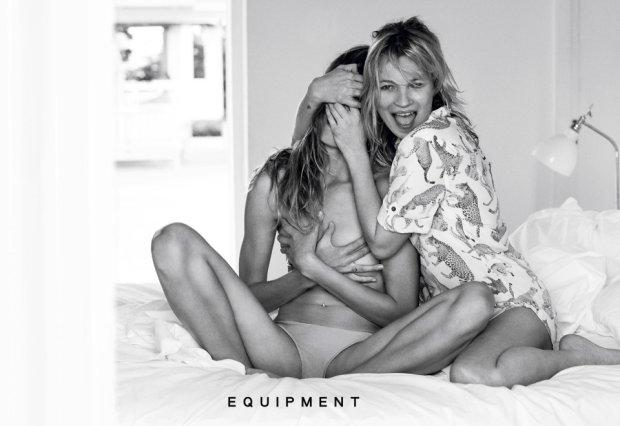 Kate Moss i Daria Werbowy w kampanii Equipment wiosna-lato 2016