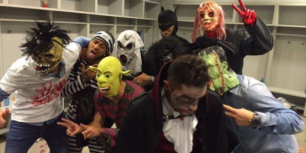 Halloween piłkarzy Barcelony