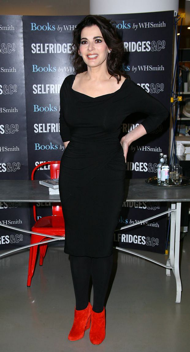 British TV chef and cookery writer Nigella Lawson during a book signing for Nigellissima at Selfridges, central London on 13/12/2012.