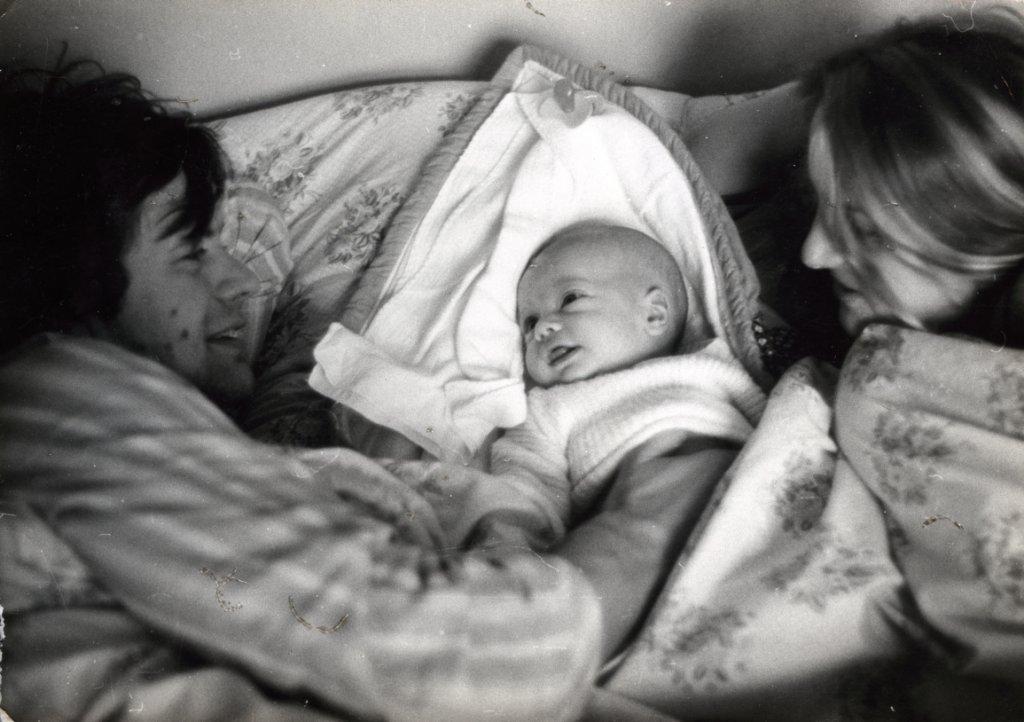 Maciej i Ewa z małym synkiem Krzysiem (fot. archiwum Ewy Berbeki)