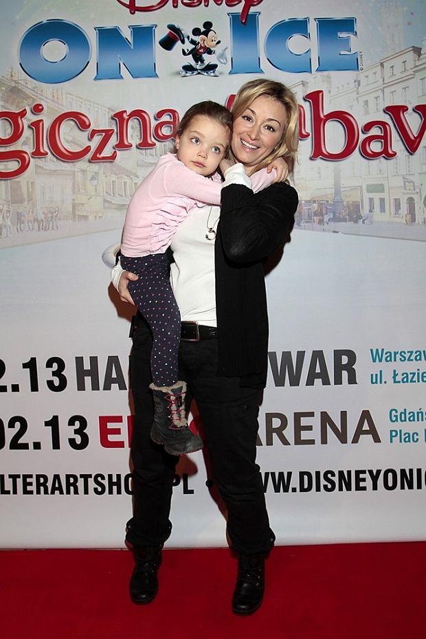05.02.2013 Warszawa  Disney On Ice - premiera widowiska  N/Z: Martyna Wojciechowska z corka  fot. Adam Jankowski/REPORTER