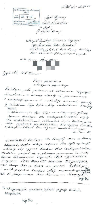Oświadczenie Mai Nizio