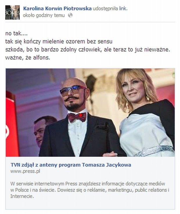 Komentarz Karoliny Krowin-Piotrowskiej
