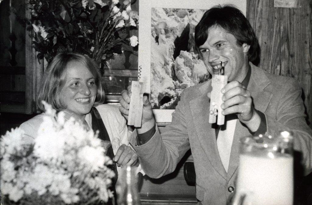 Ślub cywilny, 27.09.1980 r., (fot. archiwum Ewy Berbeki)