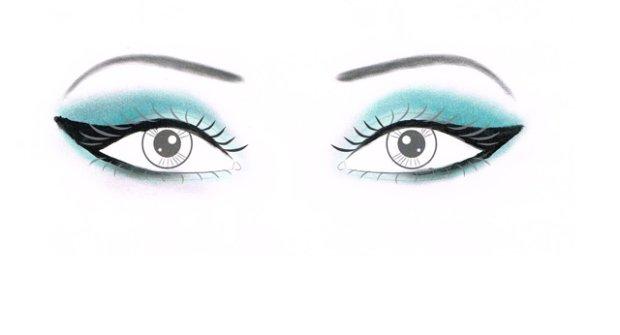 Makijaż dla blisko osadzonych oczu