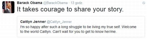 Caitlyn Jenner, Barack Obama