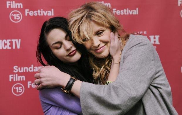 Frances Bean Cobain, left, daughter of Kurt Cobain and executive producer of the documentary film