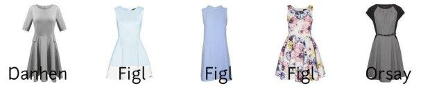 sukienki o kroju retro Danhen, Figl, Orsay