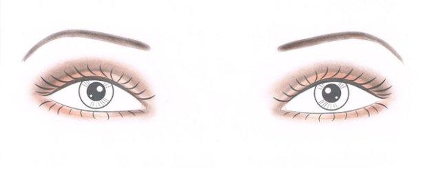 Makijaż dla szeroko rozstawionych oczu
