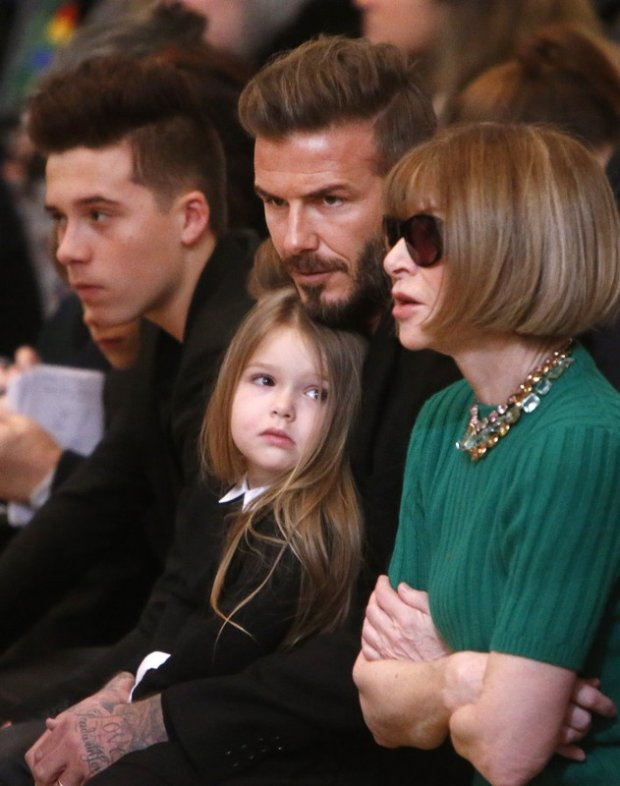 David Beckham z córką