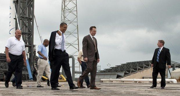 Elon Musk i Barack Obama