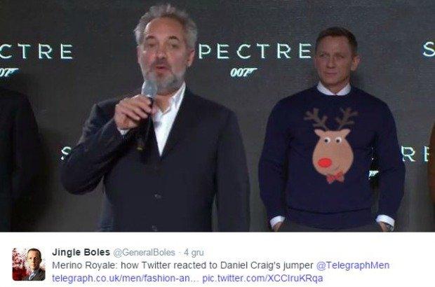 Twitter reaguje na sweter Daniela Craiga