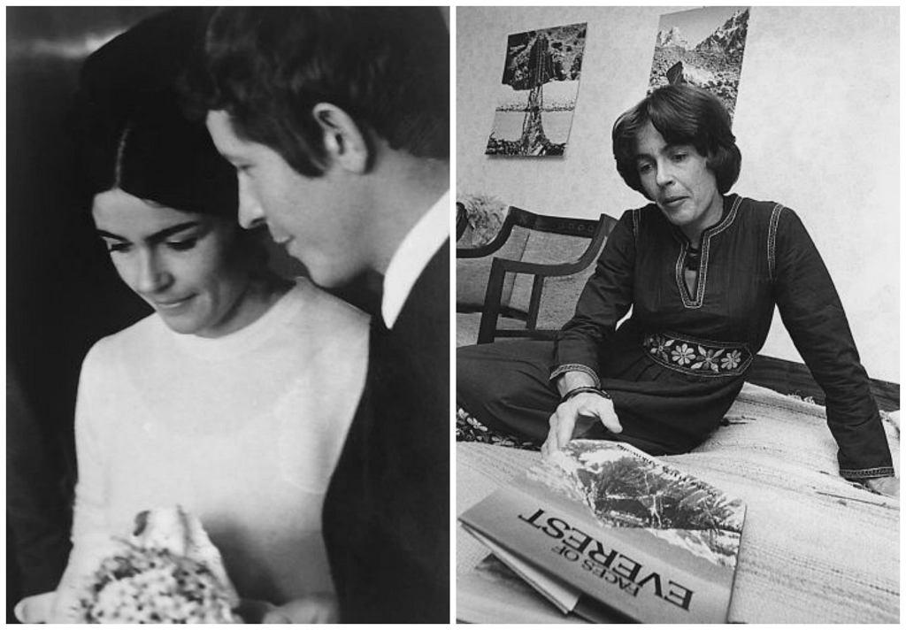 Po lewej: Dzień ślubu Wandy i Wojciecha Rutkiewiczów, 24 kwietnia 1970 r. Po prawej: Wanda po sukcesie zdobycia Mount Everestu, 1978 r. (fot. archiwum Eugeniji Murauskiené / zbiory Muzeum Sportu i Turystyki)