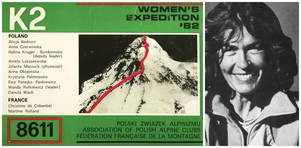 Folder kierowanej przez Wandę kobiecej wyprawy na K2, 1982 r. (fot. Zbiory Muzeum Sportu i Turystyki )