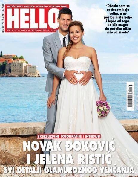 Novak Djoković poślubił Jelenę Ristic