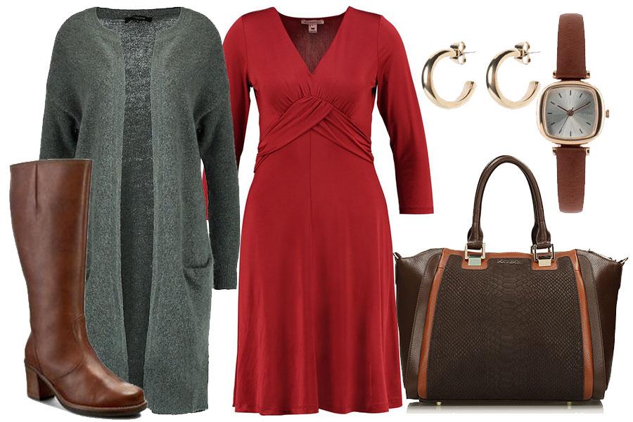 Czerwona sukienka na co dzień