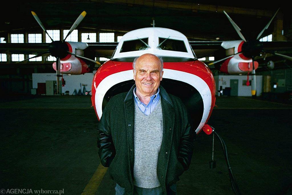 Ryszard Kapuściński w 2004 r. (fot. Maciej Zienkiewicz/AG)