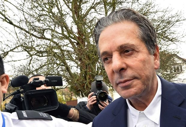 Charles Saatchi arrives at Isleworth Crown Court in west London November 29, 2013. British celebrity chef Nigella Lawson's two former assistants, Elisabetta and Francesca Grillo, are accused of defrauding Lawson's former husband Charles Saatchi out of more than 300,000 pounds ($484,600) during the period when they worked for Lawson and Saatchi was still living with her. REUTERS/Toby Melville (BRITAIN - Tags: CRIME LAW ENTERTAINMENT)