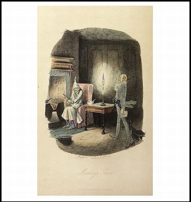 Scrooge, chociaż nie Słowianin, swoją Wigilię spędzał w towarzystwie duchów... (www.wikipedia.org)