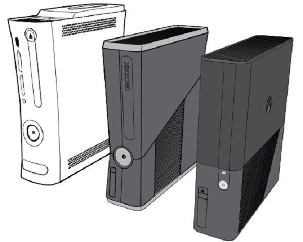 Różne modele Xboxa 360