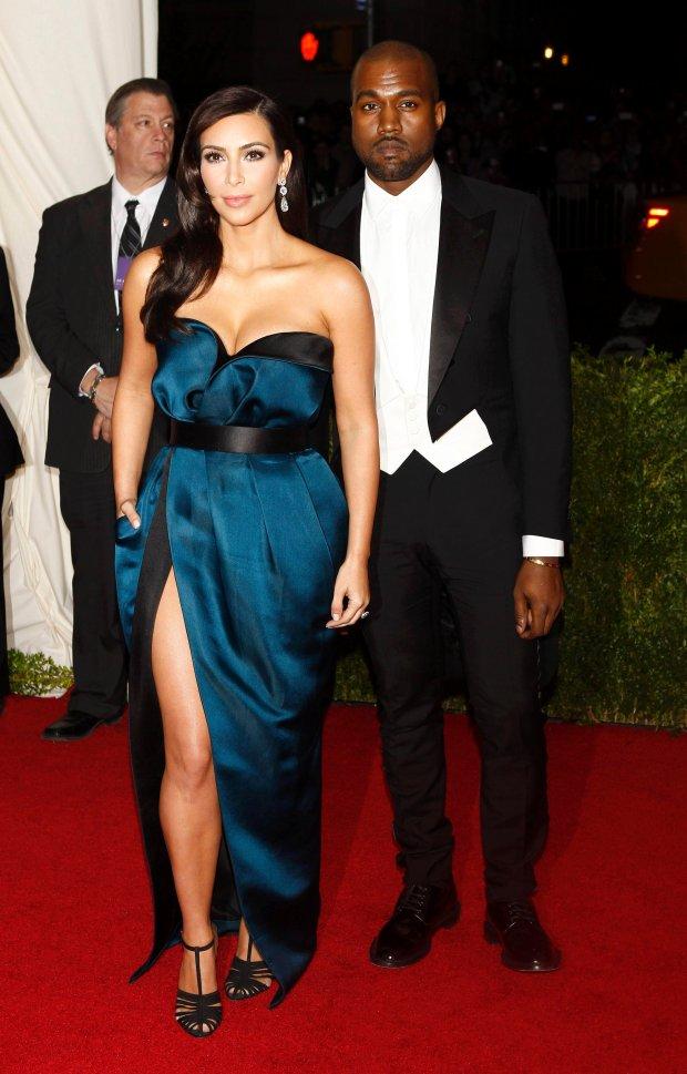 CORRECTING SPELLING OF SURNAME KARDASHIAN  Kim  Kardashian and Kanye West arrive at the Metropolitan Museum of Art Costume Institute Gala Benefit celebrating the opening of