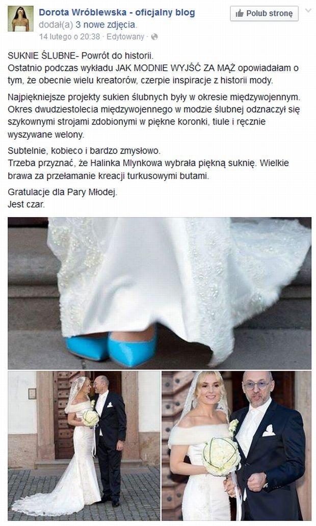 Dorota Wróblewska ocenia suknię Haliny Mlynkovej