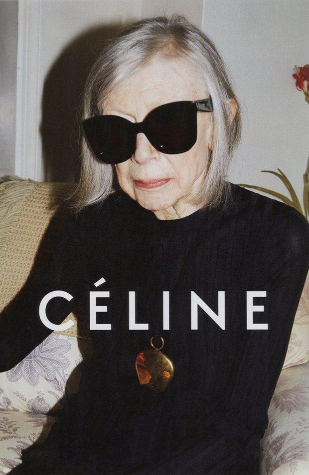Joan Didion w kampanii Celine