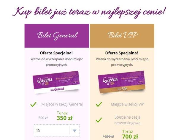 Screen strony queensoflife.pl