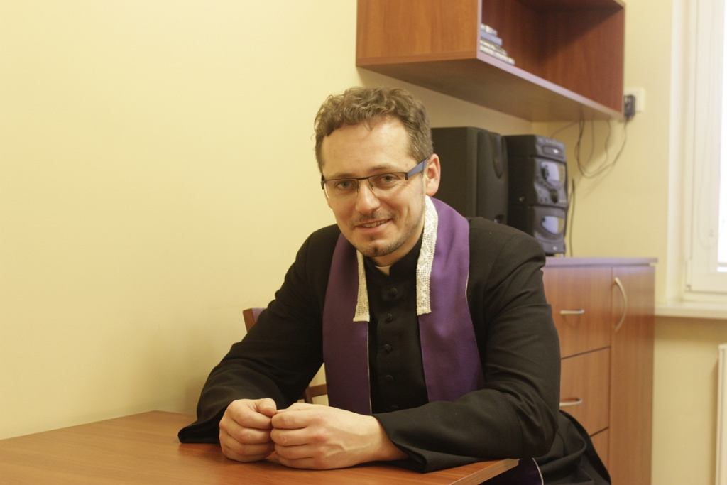 Ks. Michał Misiak (fot. Bartosz Józefiak)