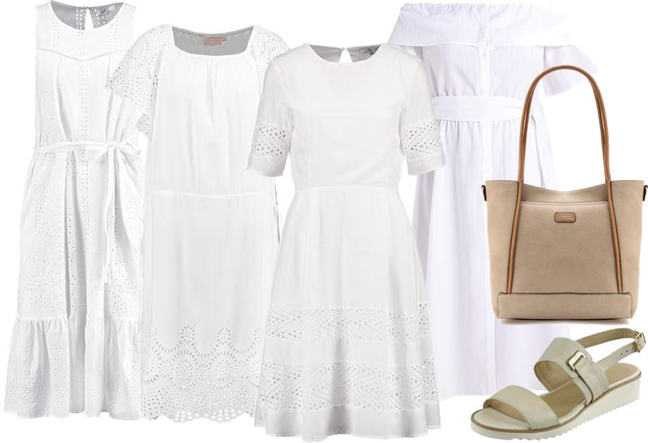 Bawełniane sukienki na lato białe
