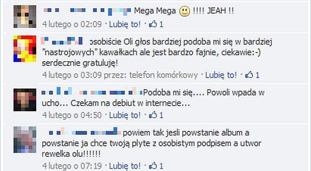 Komentarze do piosenki Oli Wróbel