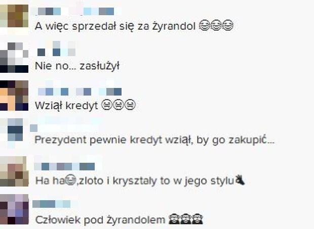 Komentarze na profilu Kuby Wojewódzkiego