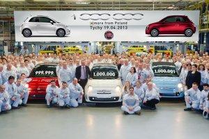 1 000 000 wyprodukowanych Fiatów 500 z fabryki Fiat Auto Poland w Tychach (19.04.2013)