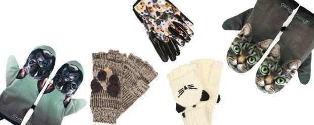 Rękawiczki ze zwierzakami
